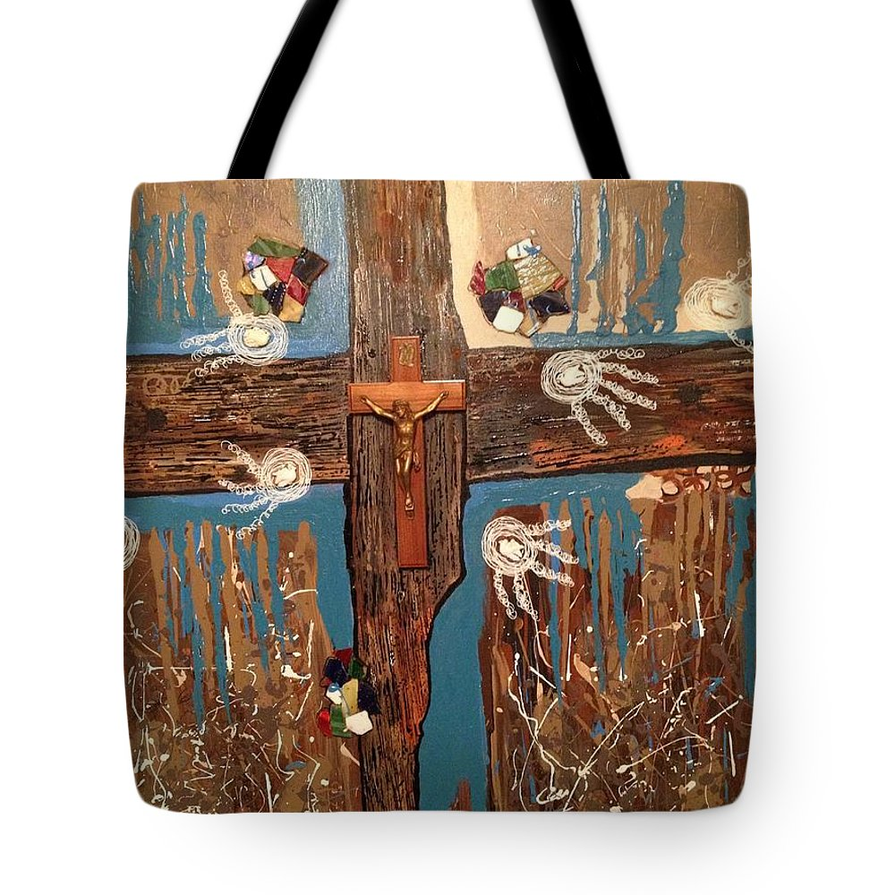 Contemporary Tote Bag featuring the painting Amazing Grace by Gh FiLben