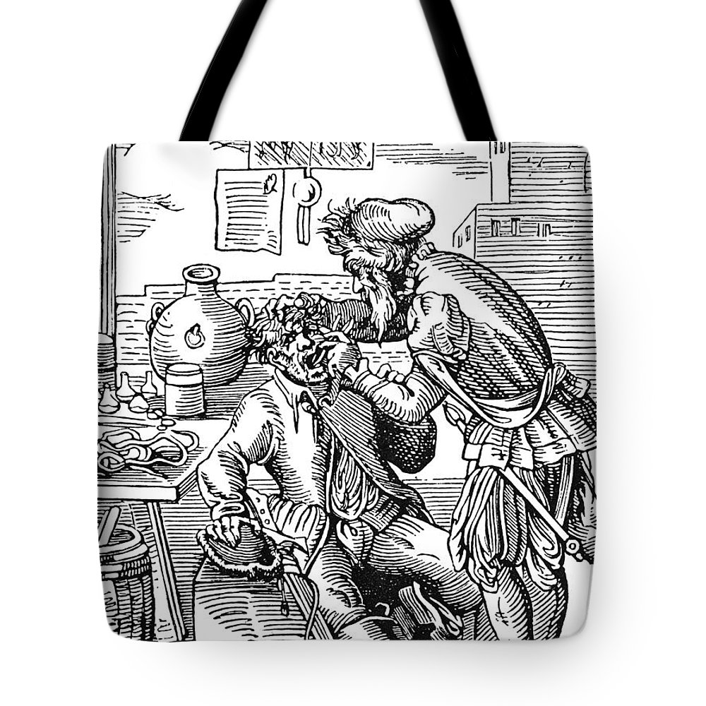 1568 Tote Bag featuring the photograph Amman: Dentist, 1568 by Granger