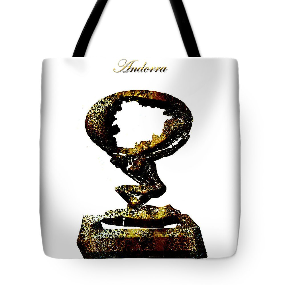 Andorra Tote Bag featuring the digital art Andorra by Brian Reaves