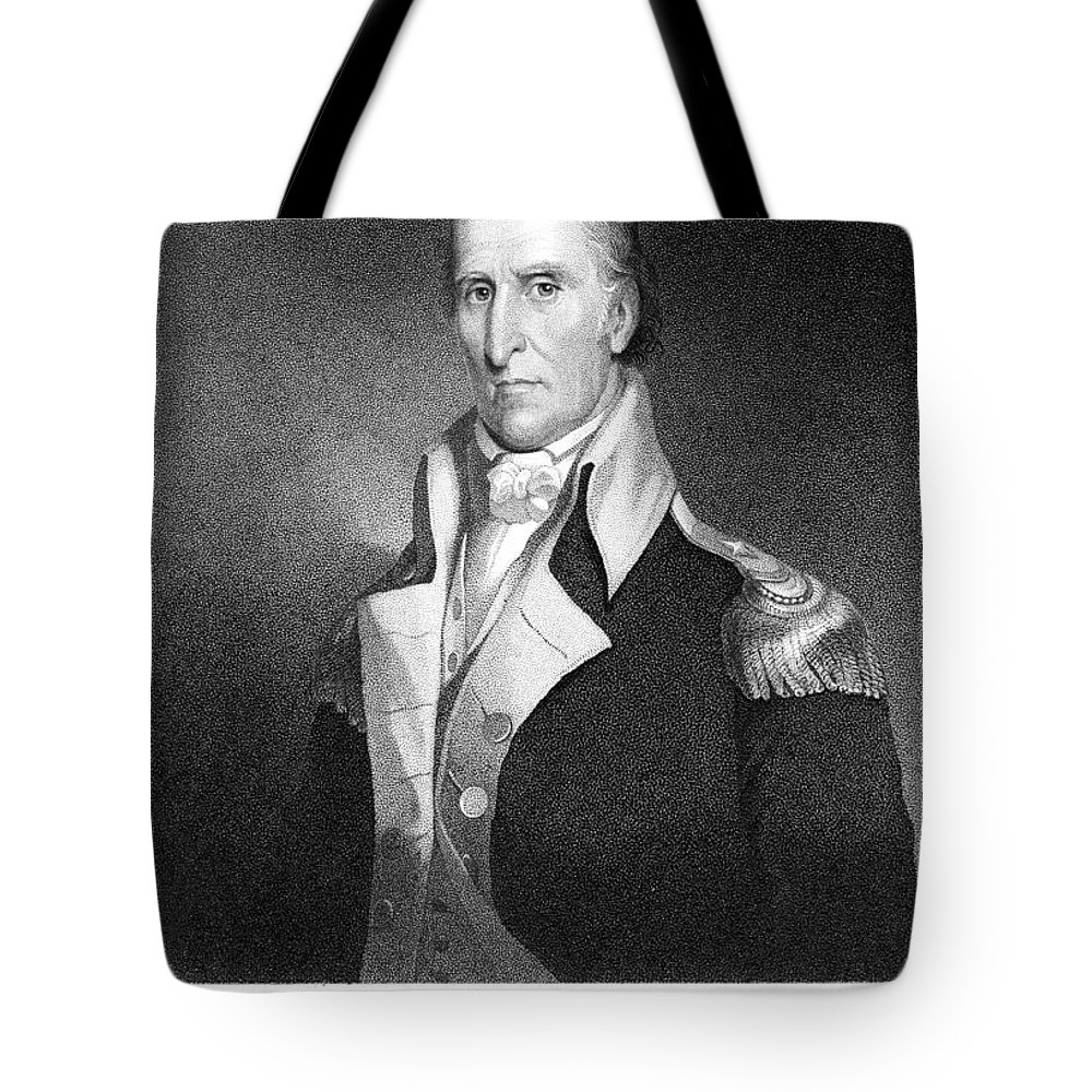 18th Century Tote Bag featuring the photograph Andrew Pickens (1739-1817) by Granger