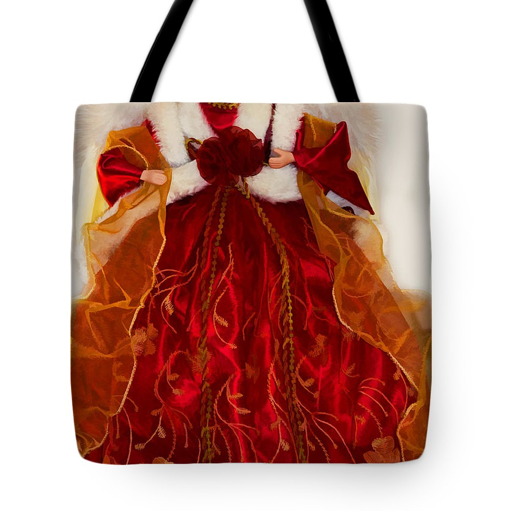 Christmas Tote Bag featuring the photograph Angel Christmas Card by Debbie Portwood