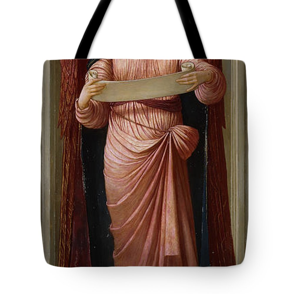 Alcove Tote Bag featuring the painting Angels by John Melhuish Strudwick