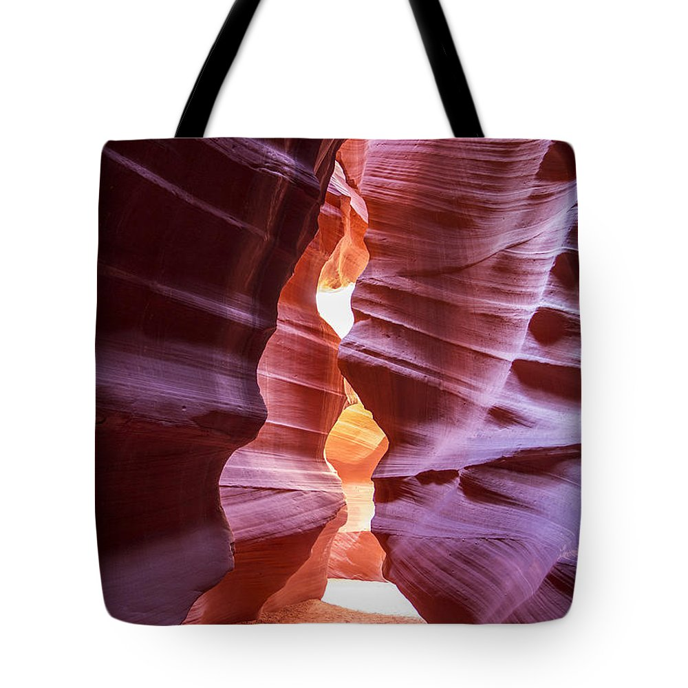 Lower Antelope Canyon Arizona Usa Daniel Knighton Pixel Perfect Cavern Cave Red Orange Rocks Tote Bag featuring the photograph Antelope Canyon by Daniel Knighton