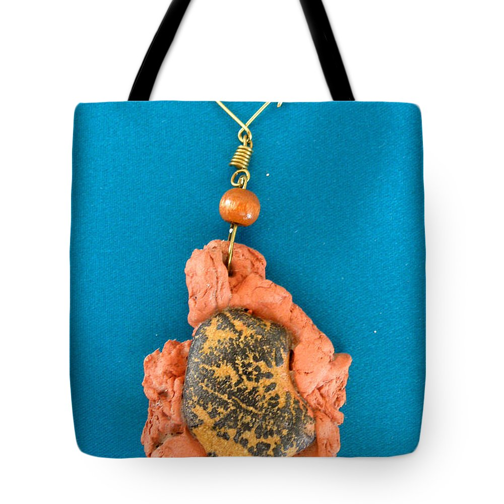 Augusta Stylianou Tote Bag featuring the jewelry Aphrodite Earring by Augusta Stylianou