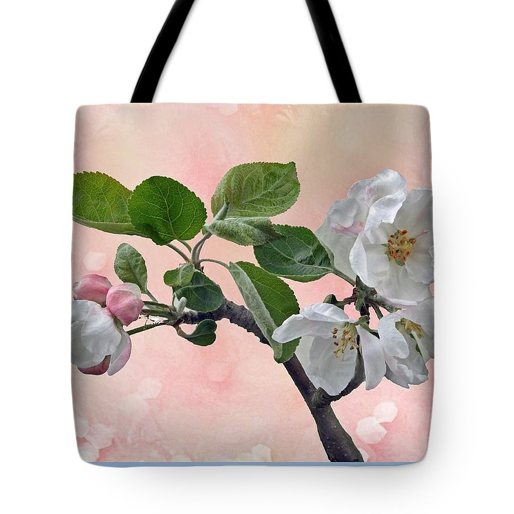 Apple Tote Bag featuring the photograph Apple Blossoms by Manfred Lutzius