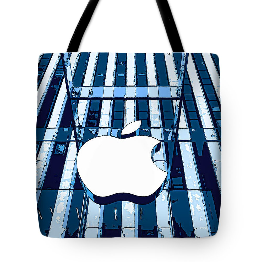 Store Tote Bag featuring the photograph Apple In The Big Apple by Allen Beatty