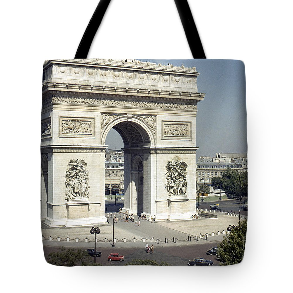 Arch Tote Bag featuring the photograph Arc De Triomphe by Granger