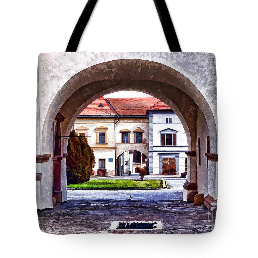 Arch Tote Bag featuring the photograph Archways by Les Palenik