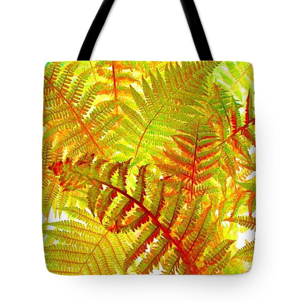 Autumn Aura Tote Bag featuring the digital art Autumn Aura by Will Borden