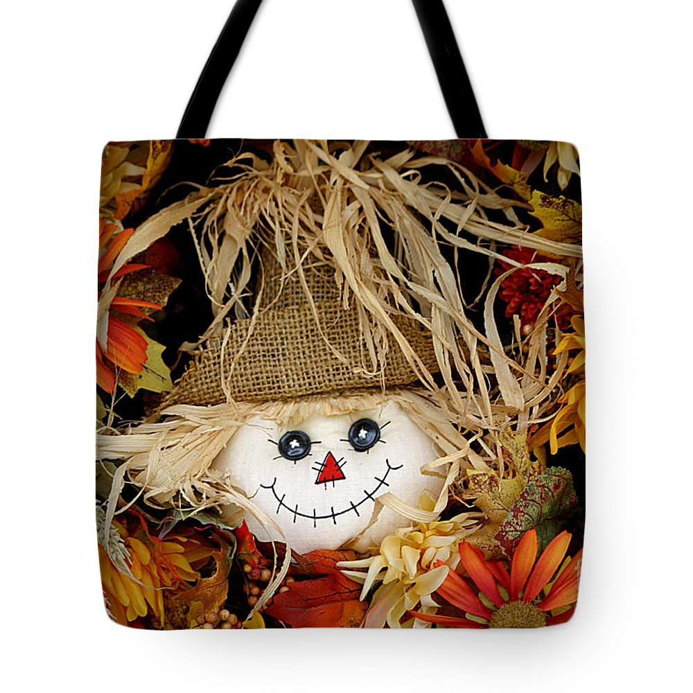 Autumn Tote Bag featuring the photograph Autumn Greetings by Living Color Photography Lorraine Lynch
