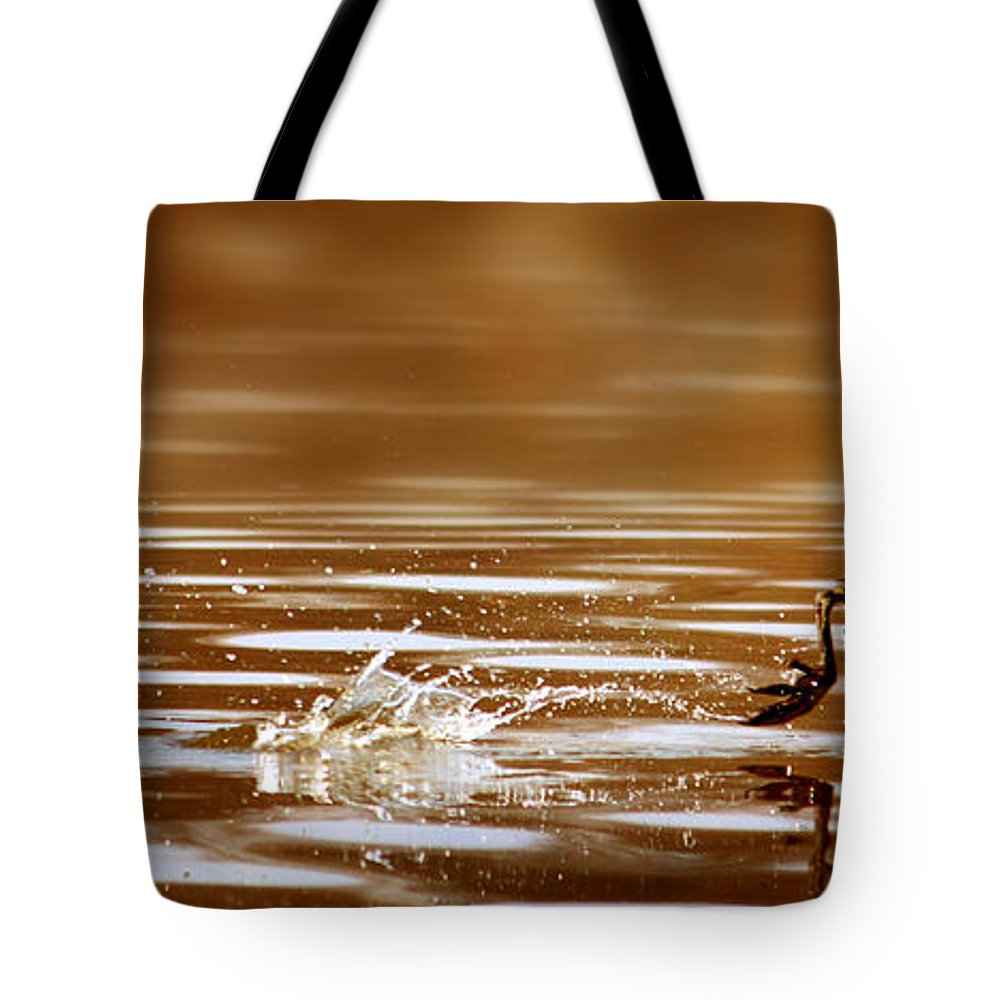 Movement Tote Bag featuring the photograph Away Quickly by Heike Hultsch