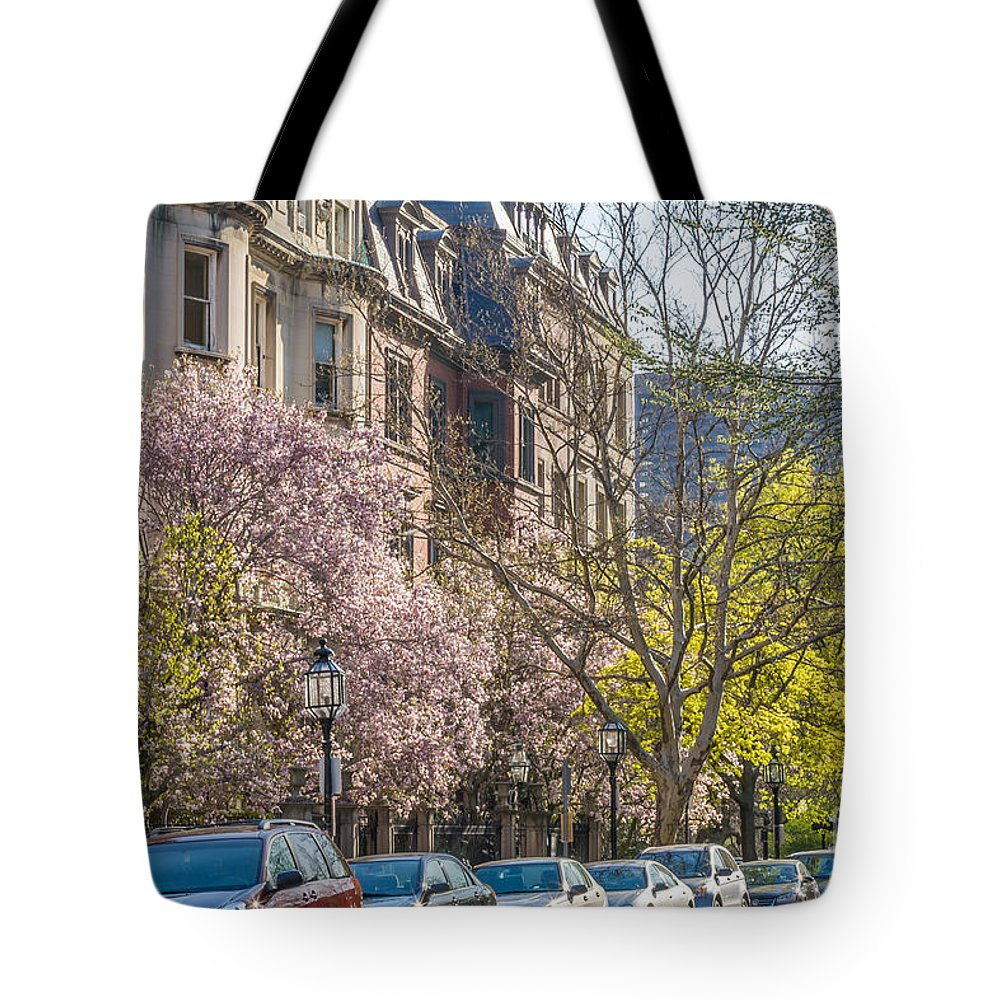 America Tote Bag featuring the photograph Back Bay Brownstones by Susan Cole Kelly