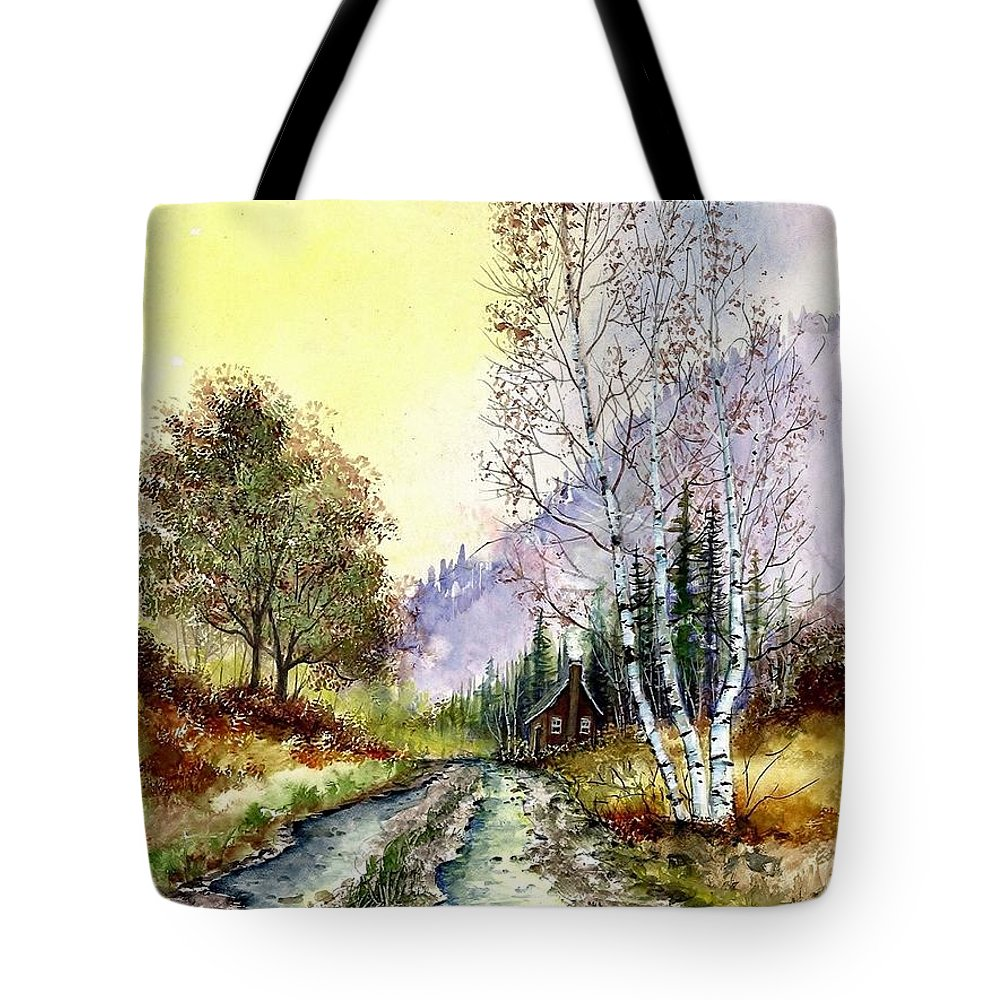 Landscape Tote Bag featuring the painting Backroads by Steven Schultz