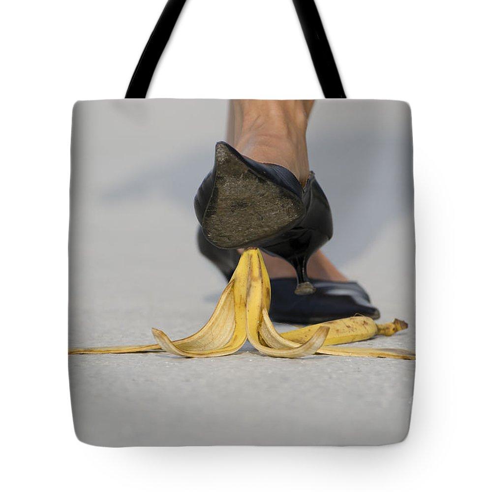 Banana Peel Tote Bag featuring the photograph Banana Peel by Mats Silvan