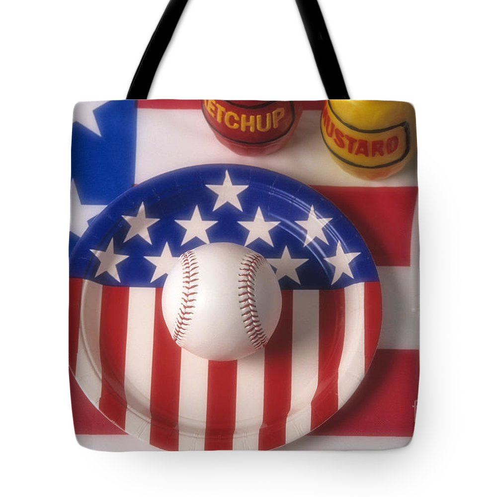 Eat Tote Bag featuring the photograph Baseball Dinner by Jim Corwin
