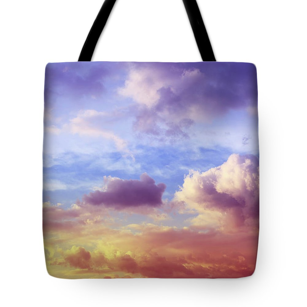 Scenics Tote Bag featuring the photograph Beautiful Sunset Cloudscape by Blackred