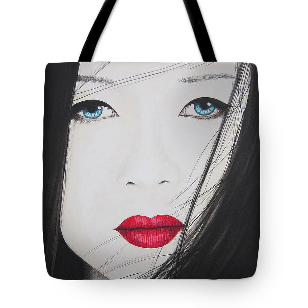 Asian Beauty Tote Bag featuring the painting Beauty by Bruce McLachlan