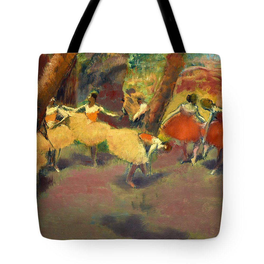 Edgar Degas Tote Bag featuring the painting Before The Performance by Edgar Degas
