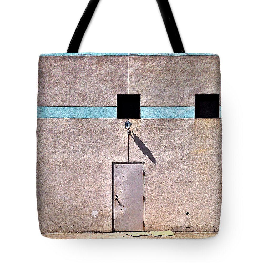 Wall Tote Bag featuring the photograph Beige Wall by Julie Gebhardt