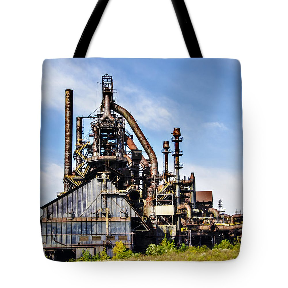 Bethlehem Tote Bag featuring the photograph Bethlehem Steel Mill by Bill Cannon
