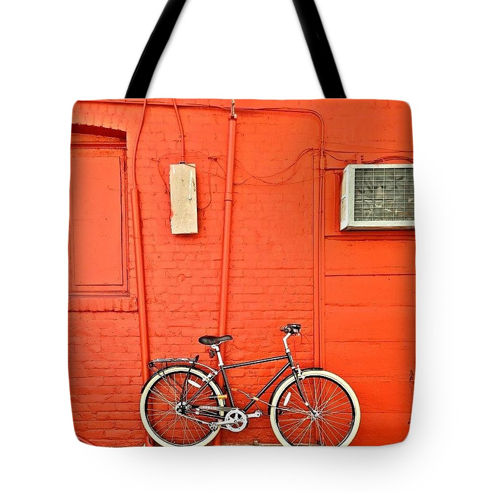 Windowsbegone Tote Bag featuring the photograph Bike by Julie Gebhardt