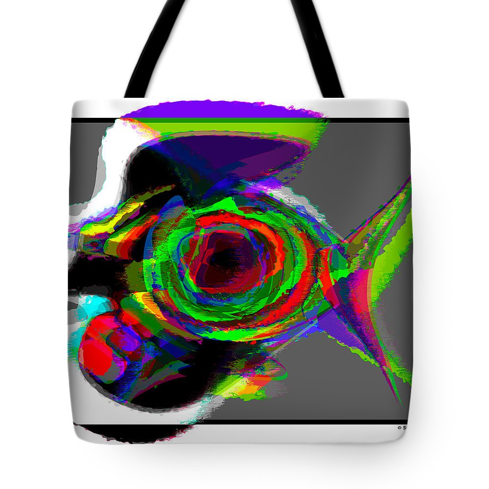 Birds Tote Bag featuring the painting Bird Fish by Anthony Scarpace