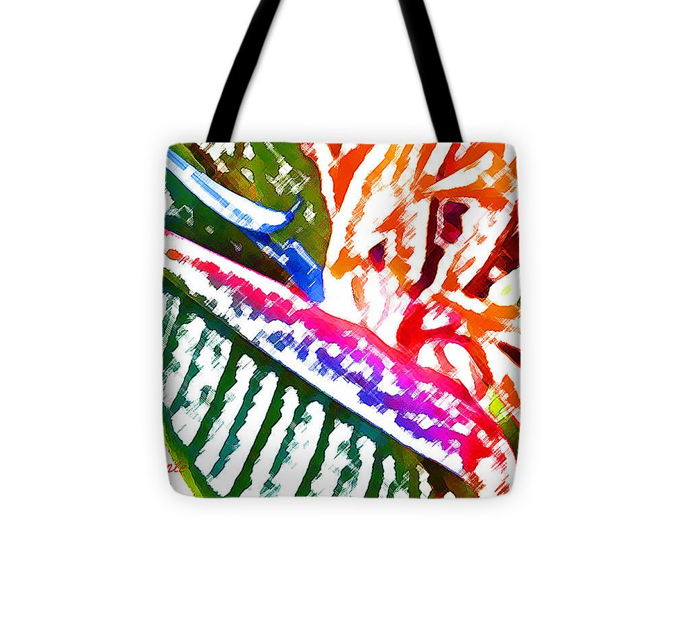 Bird Of Paradise Tote Bag featuring the digital art Bird of Paradise Painted by James Temple