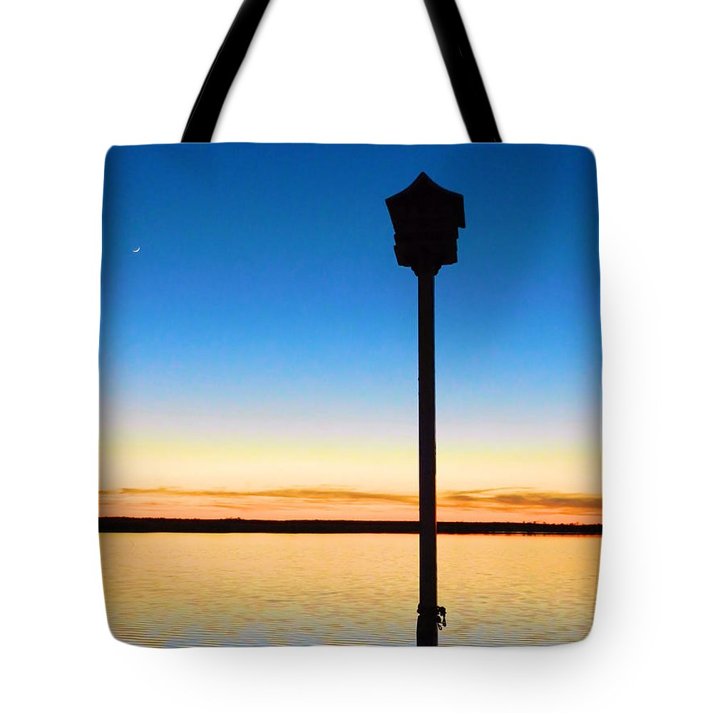 Birdhouse Tote Bag featuring the photograph Birdhouse With A View by Sharon Woerner
