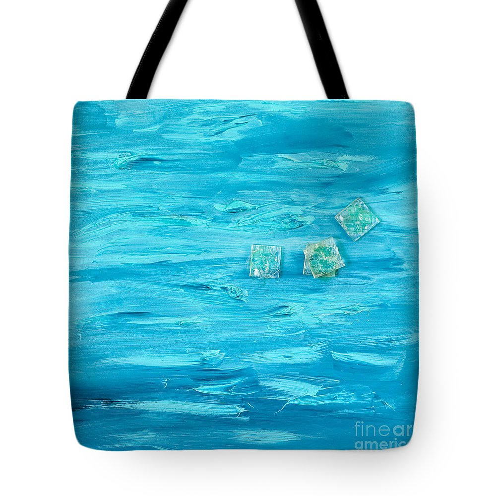 Intensive Blue Tote Bag featuring the painting Blue by Alexandra Vaczi