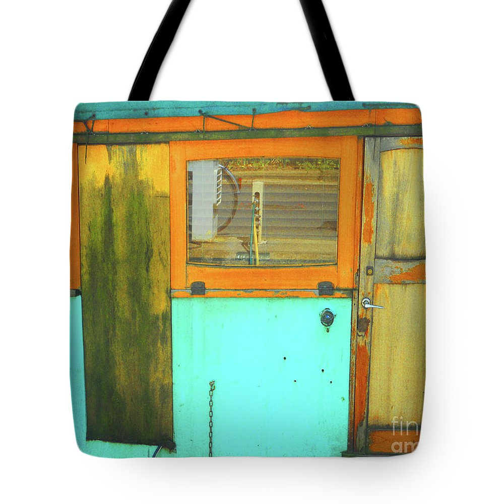 Abstract Tote Bag featuring the photograph Blue Boat by Lauren Leigh Hunter Fine Art Photography