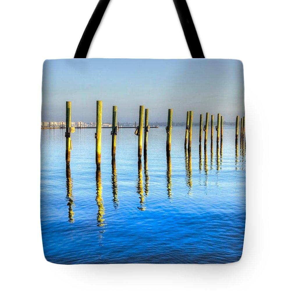 Fort Pierce Marina Tote Bags