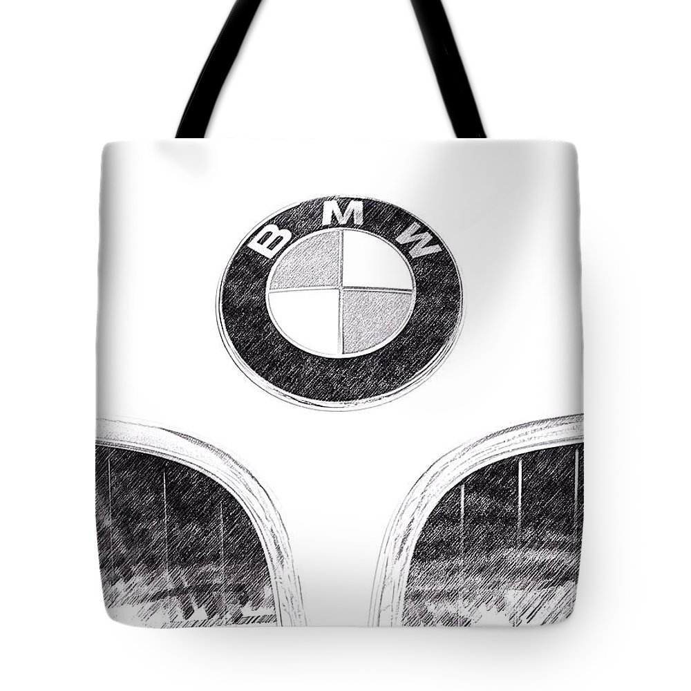Bmw Emblem Photographs Tote Bag featuring the photograph Bmw Z3 Emblem In Black by Brooke Roby