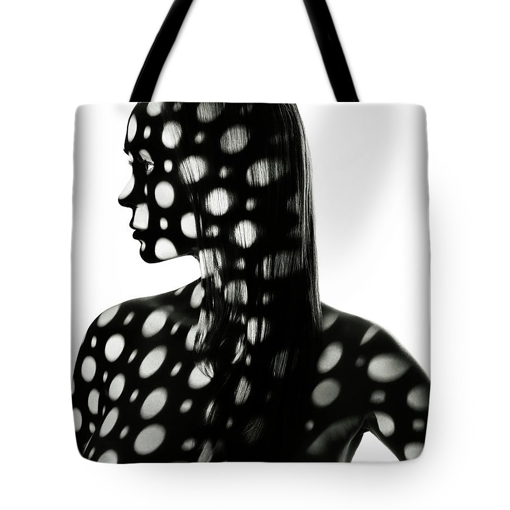 Shadow Tote Bag featuring the photograph Body Projections by Henrik Sorensen