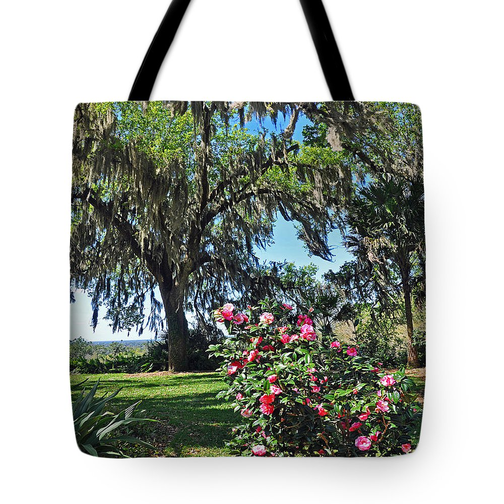 Landscapes Tote Bag featuring the photograph Bok Tower Gardens by Deborah Good