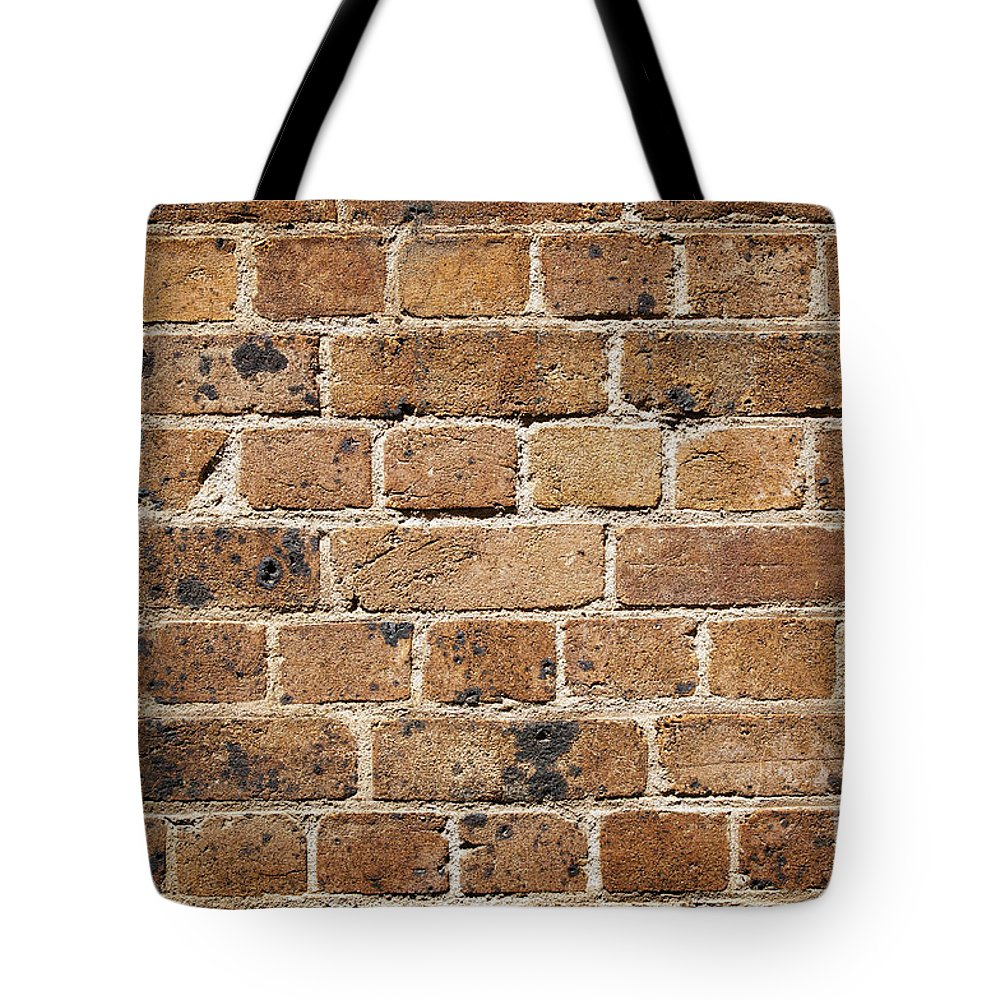 Abandoned Tote Bag featuring the photograph Brick Wall by Tim Hester