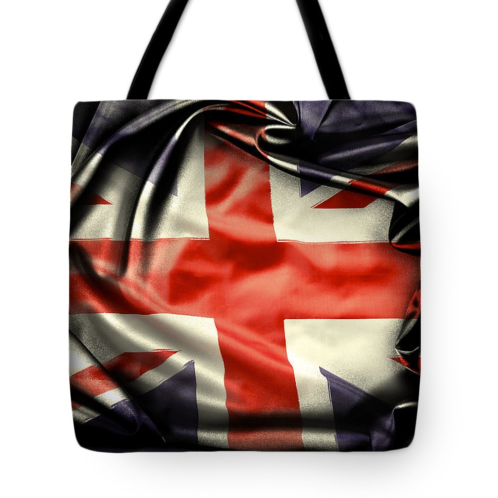 Flag Tote Bag featuring the photograph British Flag 10 by Les Cunliffe