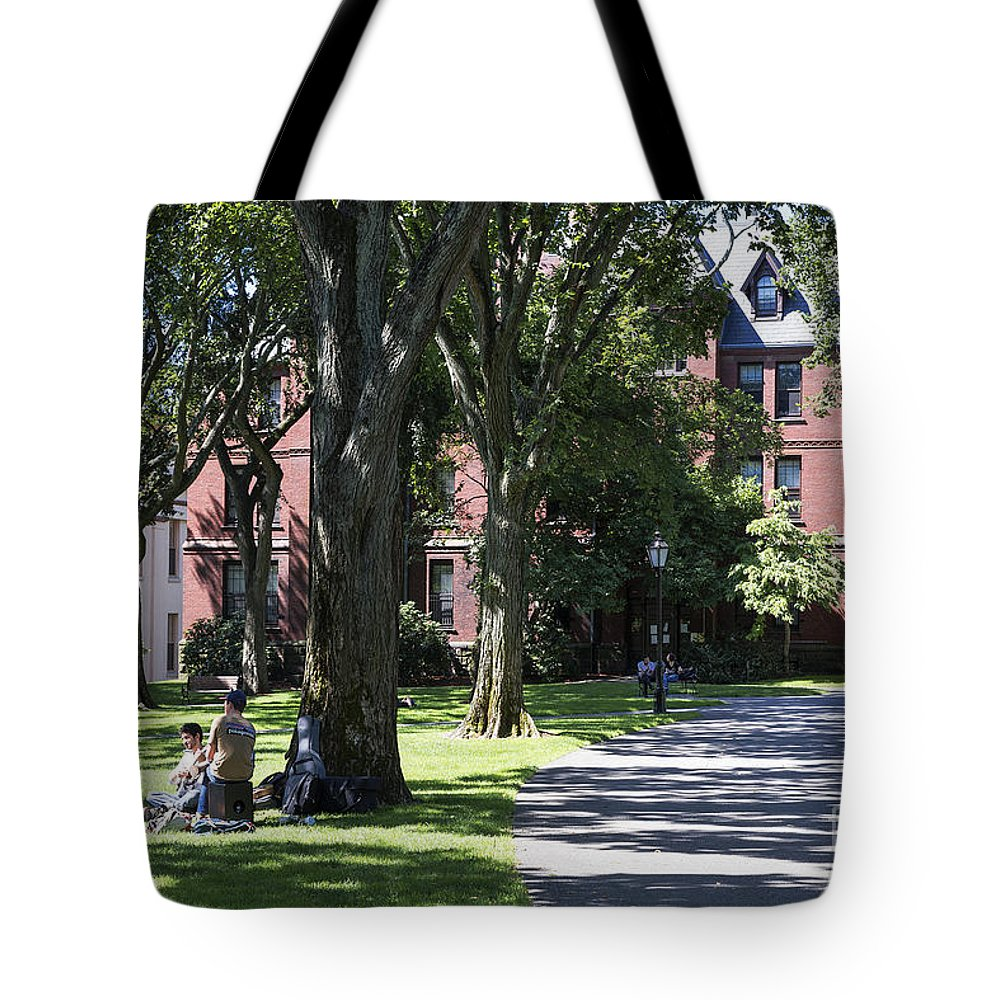 Brown University Tote Bag featuring the photograph Brown University by John Greim