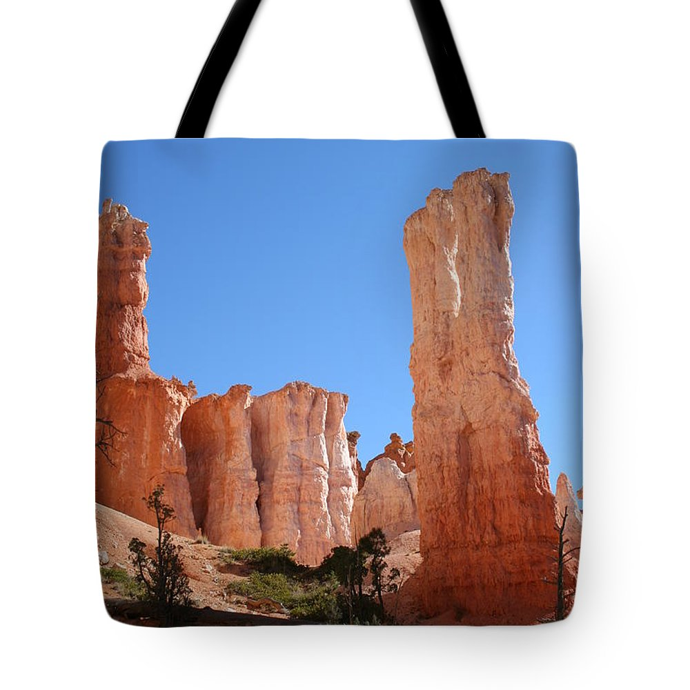 Canyon Tote Bag featuring the photograph Bryce Canyon Fins by Christiane Schulze Art And Photography