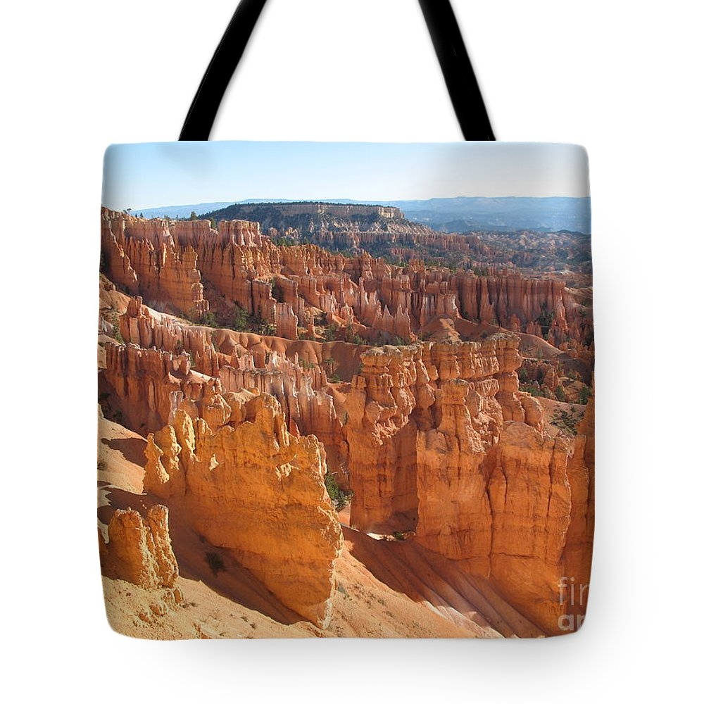 Canyon Tote Bag featuring the photograph Bryce Canyon Hoodoos And Fins by Christiane Schulze Art And Photography