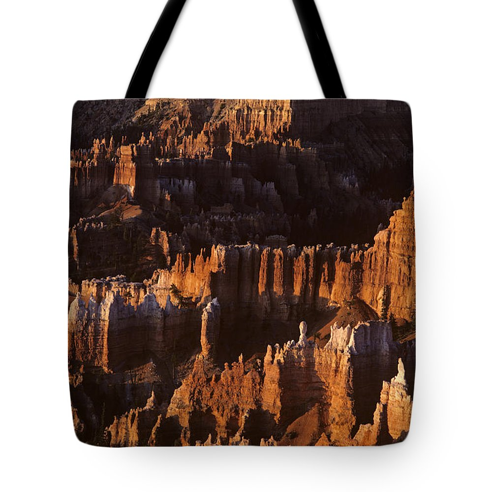 Landscape Tote Bag featuring the photograph Bryce Canyon National Park Hoodo Monoliths Sunrise Southern Utah by Jim Corwin