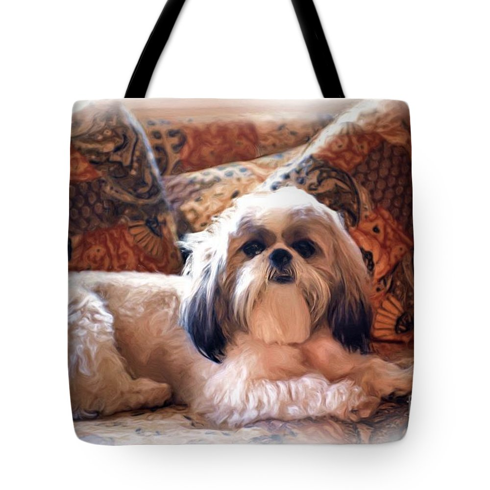 Digital Painting Tote Bag featuring the photograph Buddy by Allen Beatty