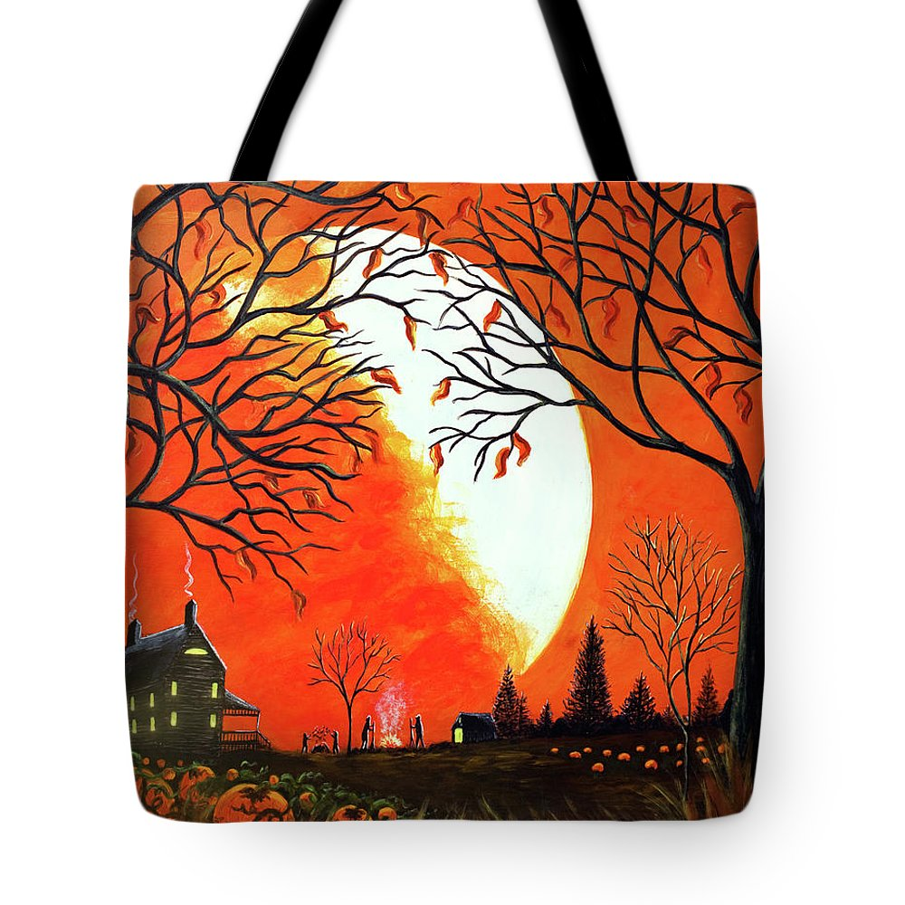 Autumn Tote Bag featuring the painting Burning Leaves by Christine Altmann