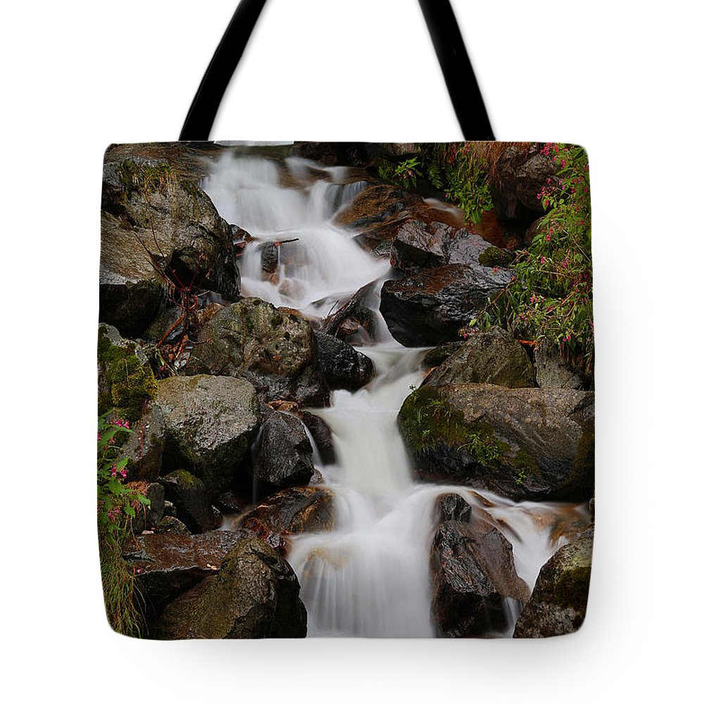 Water Tote Bag featuring the photograph C A S C A D E S by Thomas Herzog