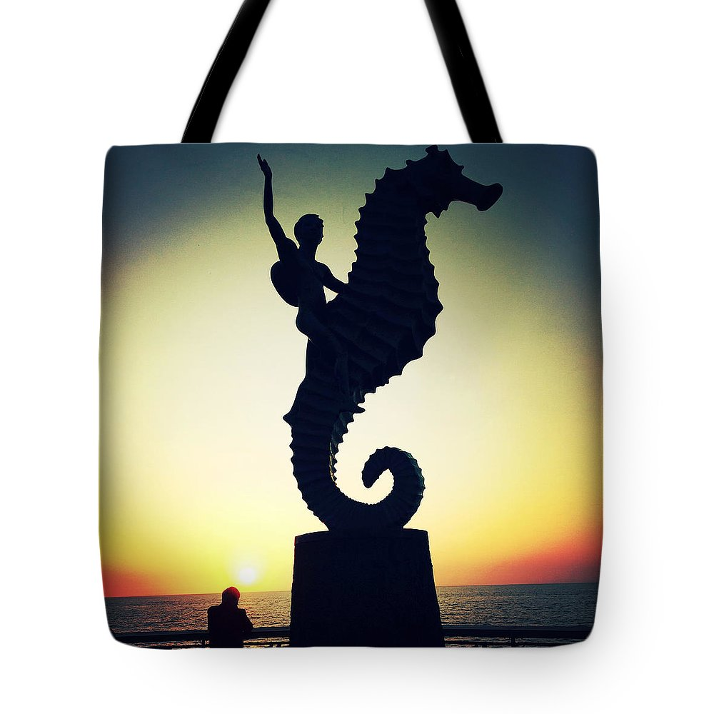 Caballeo Del Mar Tote Bag featuring the photograph 'caballeo Del Mar' By Rafel Zamarripa by Natasha Marco