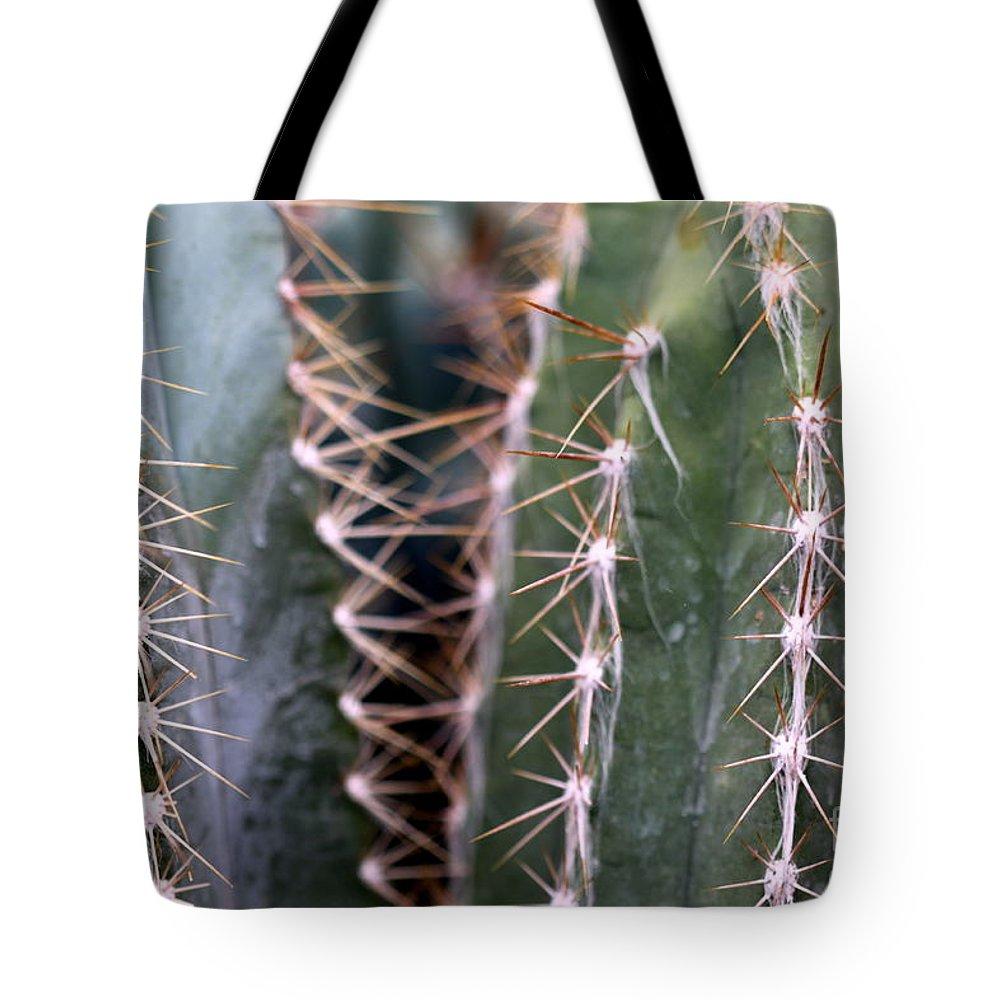 Cactus Tote Bag featuring the photograph Cactus by Henrik Lehnerer