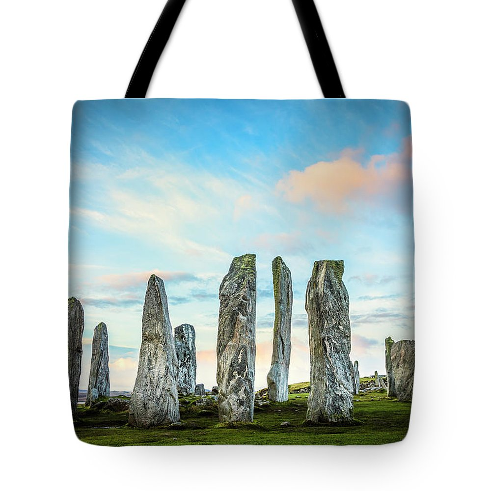 Prehistoric Era Tote Bag featuring the photograph Callanish Standing Stones, Isle Of Lewis by Theasis
