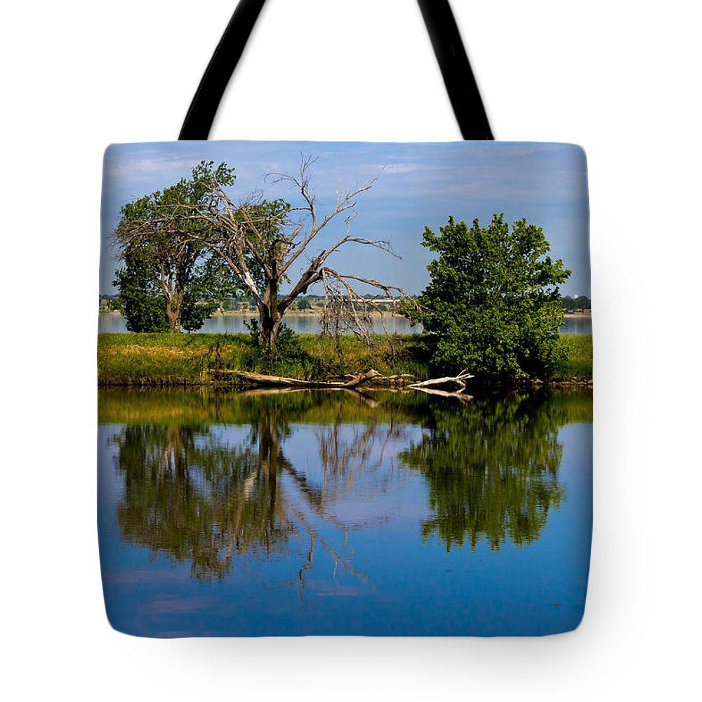 Blue Tote Bag featuring the photograph Calm Waters by Doug Long
