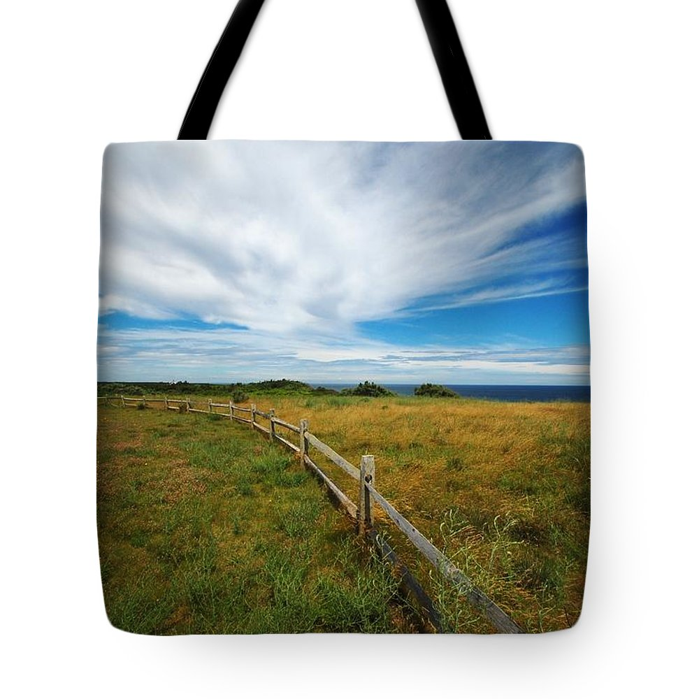 Cape Cod Tote Bag featuring the photograph Cape Cod Vista by Lisa Kane