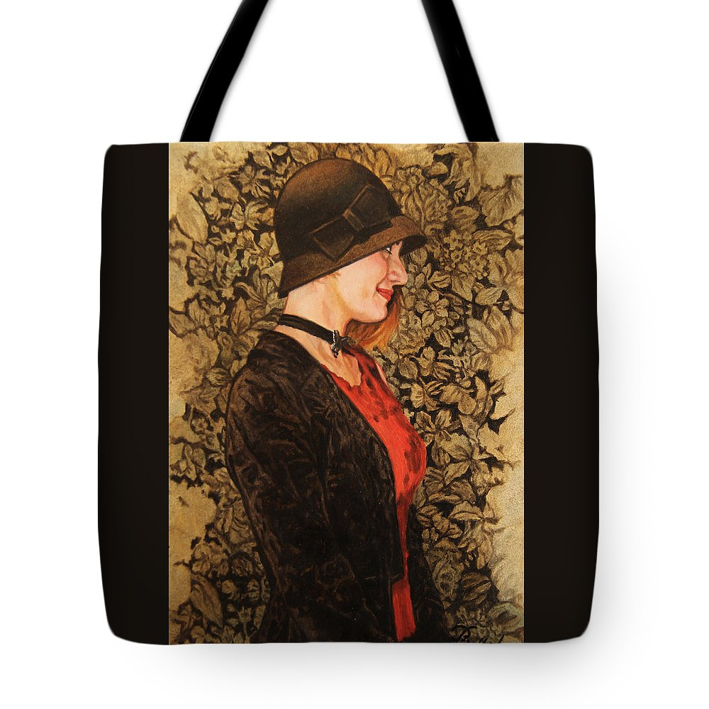 Whelan Tote Bag featuring the painting Cat In The Hat by Patrick Whelan