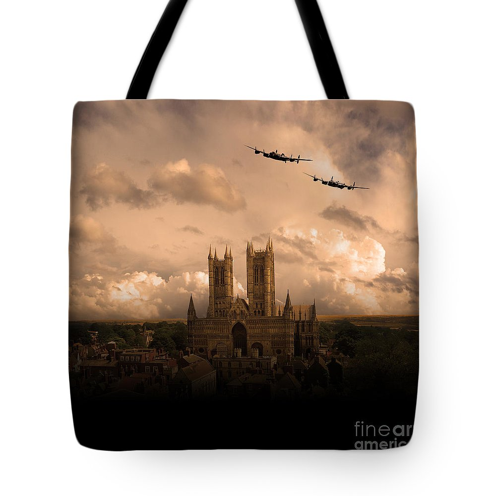 Avro Tote Bag featuring the digital art Cathedral Pass 1 by Airpower Art